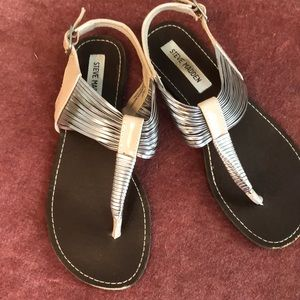 EUC Steve Madden Thong Slingback Sandals size 8